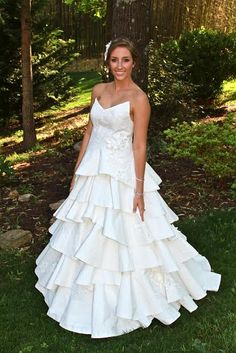 Cheap Chic Weddings Toilet Paper Wedding Dress
