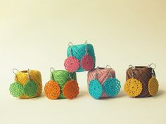 fine crochet earrings