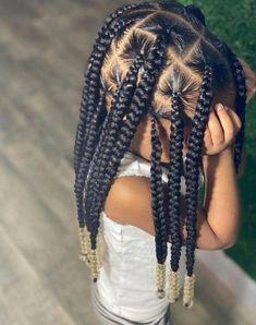 Black Kids Braids Hairstyles, Toddler Braided Hairstyles, Weave Ponytail Hairstyles, Girls Natural Hairstyles, Baby Girl Hairstyles, Black Girl Braids, Braid Styles For Girls, Natural Hair Braids, Braids For Kids