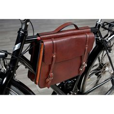 Leather Bike Briefcase for your Bike Commute