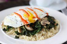 Fake Food Free: Fried Egg over Kale and Quinoa