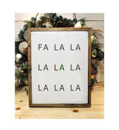 CHRISTMAS IN JULY!! Create something extraordinary this Christmas! When you order this framed FA LA LA Christmas wood sign from The Crafty Splinter, suddenly you have a perfectly decorated Christmas custom piece that matches your current farmhouse Christmas decor styles AND portrays a style unique to YOU! I hand