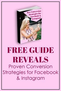 FREE GUIDE REVEALS Proven Conversion Strategies for Facebook & Instagram. Marketing Tools, Content Marketing, Social Media Marketing, Facebook Advertising Tips, Facebook Marketing, Instagram Tips, Facebook Instagram, For Facebook, Pinterest Marketing