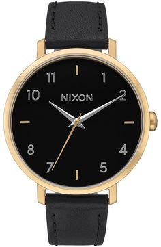 4044478d6f7 Nixon The Arrow Leather Strap Watch