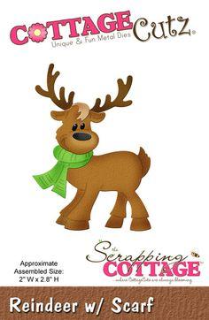 Cottage Cutz - Die - Reindeer w/ Scarf