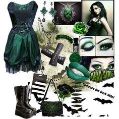 """Embrace the dark side"" by octoburfrost on Polyvore #goth #gothic #gothgoth…"