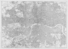 Bacons new map of london 1876, vintage antique color, printed wallpaper map