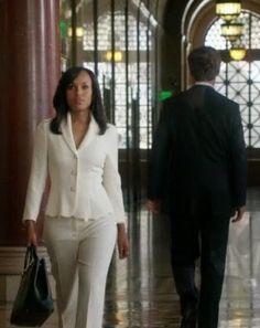 "Olivia's Escada Scalloped-Hem Topper Jacket on Scandal Season 4, Episode 1: ""Randy, Red, Superfreak and Julia"""