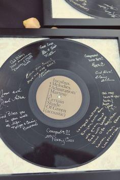 LP Vinyl Record Wedding Guest Book