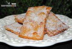 Receta tradicional de Hojuelas para Semana Santa, con explicación sencilla del paso a paso, detallando los ingredientes y acompañada de fotografías.