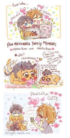part 2 . Drawn by racyue . Anime Siblings, Couples Cosplay, Splash Free, Free Eternal Summer, Makoharu, Free Iwatobi Swim Club, Free Comics, Free Anime, Cute Chibi