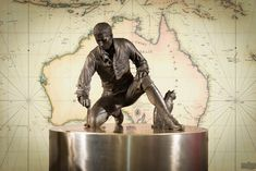 A statue of explorer Matthew Flinders, who named Port Lincoln in South Australia after his home province, has been unveiled. Bronze Sculpture, Lion Sculpture, Joining The Navy, Australia Map, Northern England, The Way I Feel, Maritime Museum, First Contact, The Man