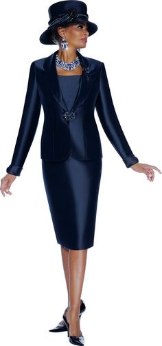 #7439 TERRAMINA 2 PC SUIT DICKIE INCLUDED 100% POLYESTER #SkirtSuit