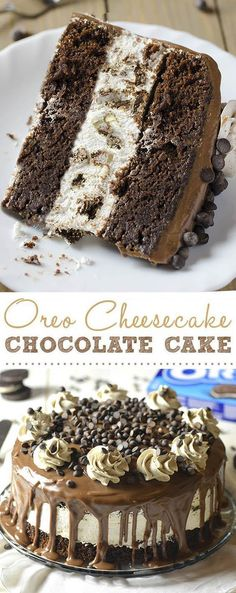 Oreo Cheesecake Chocolate Cake, so decadent chocolate cake recipe. Oreo cheesecake sandwiched between two layers of soft, rich and fudgy chocolate cake.