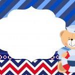 Convite 3 Ursinho Marinheiro