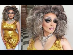 FULL DRAG QUEEN MAKEUP TRANSFORMATION TUTORIAL SUGAR LOVE DRAG QUEEN MAKEUP WIG