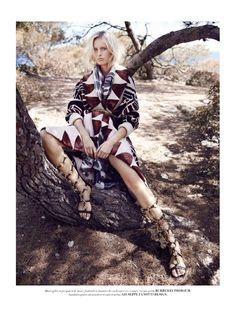 visual optimism; fashion editorials, shows, campaigns & more!: un hiver gypset: karolina kurkova by marcin tyszka for l'officiel paris november 2014