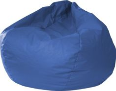 """30014046804 Color: Medium Blue, Size: XX Large Features: -Sturdy and durable leather look vinyl cover.-Double stitched.-Child safe zipper.-Filled with virgin expanded polystyrene beans.-Comfortably fits all ages.-Easy wipe clean maintenance.-Made in the USA. Dimensions: -Small / Toddler dimensions: 15"""" H x 26"""" W x 26"""" D.-Medium / Tween dimensions: 19"""" H x 28"""" W x 28"""" D.-Extra Large dimensions: 25"""" H x 39"""" W x 39"""" D..."""