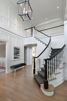 Foyer with Board and Batten, Transitional, Entrance/foyer, Blue Water Home Builders