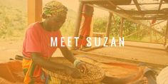 Dusabimana Suzan works at the Ruli Mountain washing station, where she hand-sorts beans.