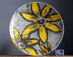 LARGE 14  Vintage 60-70 s RUSCHA Wall Plate W.German Pottery Fat Lava Vase Era
