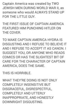 #saynotoHYDRAcap Embedded image /// WHY WOULD THEY DO THIS?!  I am in denial...Captain America is forever S.H.I.E.L.D. and nothing can convince me otherwise.
