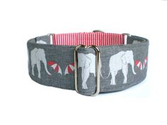 Umbrellas for Elephants Martingale Dog Collar by TheEclecticHound, $28.00  so stinking cute! but again...if she were not b