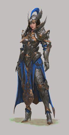 Fantasy Female Warrior, Female Armor, Female Knight, Fantasy Armor, Fantasy Women, Fantasy Girl, Woman Warrior, Fantasy Character Design, Character Design Inspiration