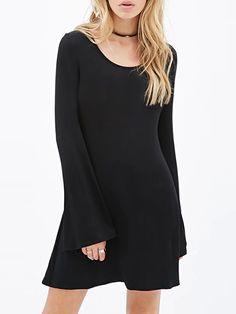0c1b783b4da910 Black A-Line Dress Short Dresses