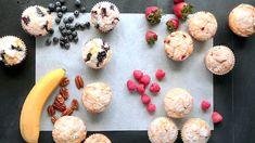 Martha Stewart - One Batter, Four Muffins Muffin Recipes, Brunch Recipes, Brunch Ideas, Yummy Recipes, Martha Stewart, Breakfast Muffins, Breakfast Dishes, Breakfast Items, Breakfast Recipes