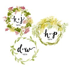 Ever since Caitlin's wedding was inching closer (congrats to her!) I've been getting some emails requesting a wedding logo design similar to the wreath I painted for her. While I'…