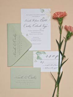 Invitations: Fanciful Florals - My New Orleans Watercolor Images, Destination Wedding Invitations, Envelope Liners, Winter Springs, Invitation Suite, Letterpress, New Orleans, Floral Prints, Place Card Holders