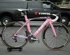 """Pink in honor of my dear friend Jane Leslie who has battled breast cancer among many other things. I'm riding in honor of you this week."" - @kielreijnen"
