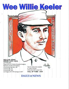 Wee Willie Keeler Photo & Art published by The Daily News & Bill Gallo - Prints $3.50 #jimb0235