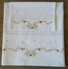 This Pin was discovered by Mac Baby Embroidery, Embroidery Flowers Pattern, Ribbon Embroidery, Flower Patterns, Cross Stitch Embroidery, Machine Embroidery, Embroidery Designs, Embroidered Towels, Heirloom Sewing