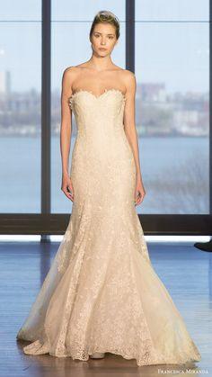 francesca miranda bridal spring 2017 strapless sweetheart lace trumpet wedding dress (florence) mv
