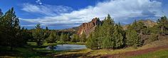 Smith Rock Panoramic, by artist Jim Mullholand of JM Photography, print available on FineArtAmerica.com