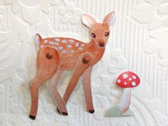 Warrior Girl- art and transformation: A Fawn paper doll and Cultivating Creativity in Gentleness, by Rowena Murillo