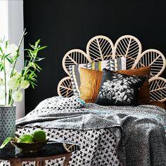Peacock bedhead perfection #peacockbedhead #sheercurtain #bedroom…