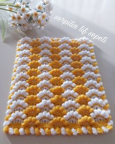 Crochet Mittens - Diadema a Crochet en punto tunecino de onditas en con flores tejido tallermanualperu Crochet Flower Patterns, Crochet Doilies, Crochet Flowers, Crochet Stitches, Knitting Blogs, Knitting For Beginners, Knitting Patterns, Baby Blanket Crochet, Crochet Baby