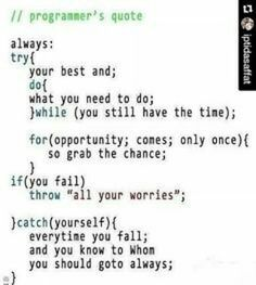 Programmer's Quote of the Day... #quote #quoteoftheday #programmer #java #javascript #developer #love #follow4like #like4follow #like4likes #follow4follow