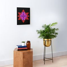 """""""Lotus Star Design"""" Mounted Print by Pultzar   Redbubble"""