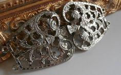 Vintage Ornate Scrollwork Belt Buckle ~ #Vintage #Fashion #Style #Filigree #Scrollwork #Beauty #VintageWedding #VintageBride #Bridal #Brides #BridalStyle #Design by StarliteVintageGems ~ SOLD
