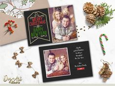 REPIN NOW for later! Christmas Card Printable Christmas Photo Card Family Christmas card Holiday Photo card Custom Xmas card Two Sided Photo card Digital File by DigartDesigns on Etsy