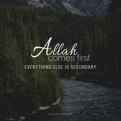 Put Allah first in every aspect of your life and trust in Him to guide you.