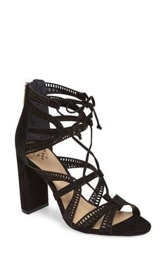 f816c03cb8dff Vince Camuto Vince Camuto Mindie Ghillie Sandal (Women) available at   Nordstrom Wedge Sandals