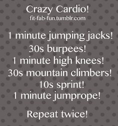 fit-fab-fun: all you need is the great outdoors and a jumprope! Get Healthy, Healthy Life, Healthy Living, Anaerobic Exercise, Excercise, Fitness Tips, Fitness Motivation, Health Fitness, Cardio