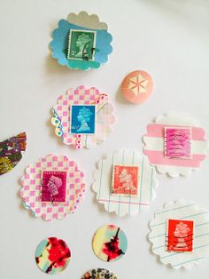 paper + stamps embellishment