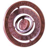 Mayan Calendar Spinner Geocoin Antik Kupfer inkl. TAG