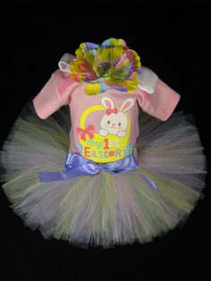 My First Easter Baby Girls Outfit  Easter by EleventhHourDesigns, $38.00